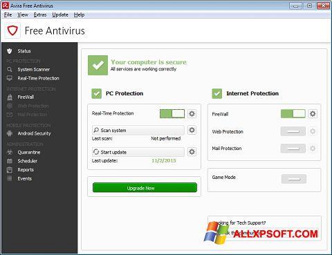 צילום מסך Avira Free Antivirus Windows XP