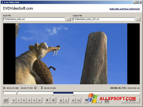 צילום מסך Free Video Dub Windows XP