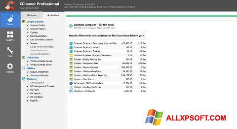 צילום מסך CCleaner Professional Plus Windows XP