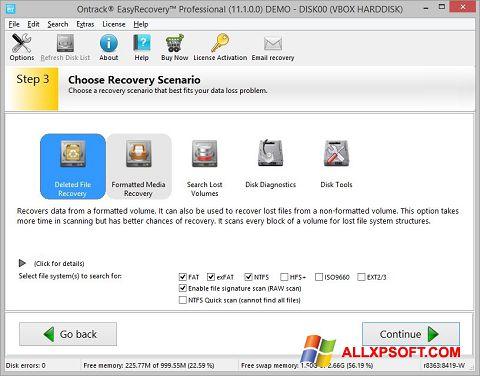 צילום מסך EasyRecovery Professional Windows XP