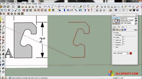 צילום מסך SketchUp Windows XP