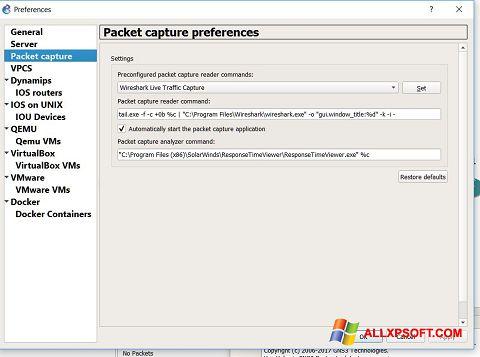 צילום מסך Wireshark Windows XP
