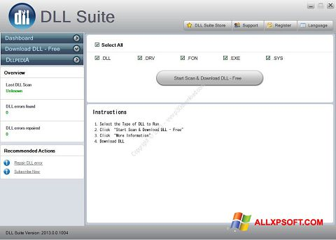 צילום מסך DLL Suite Windows XP