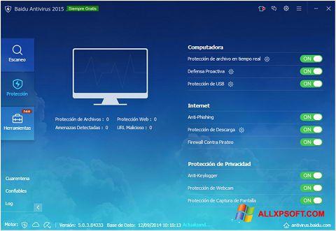 צילום מסך Baidu Antivirus Windows XP