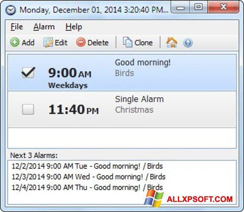 צילום מסך Free Alarm Clock Windows XP