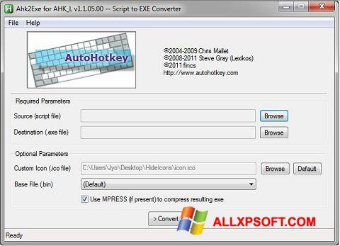 צילום מסך AutoHotkey Windows XP