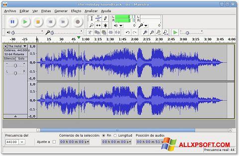 צילום מסך Audacity Windows XP
