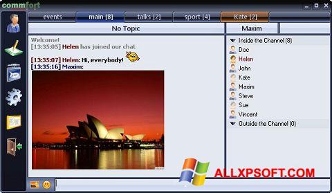 צילום מסך CommFort Windows XP