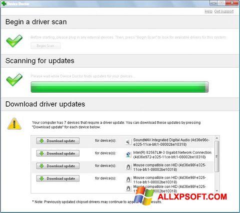 צילום מסך Device Doctor Windows XP
