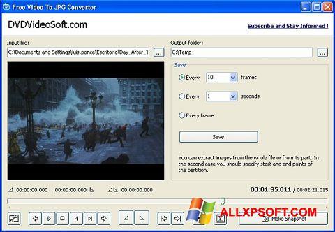 צילום מסך Free Video to JPG Converter Windows XP
