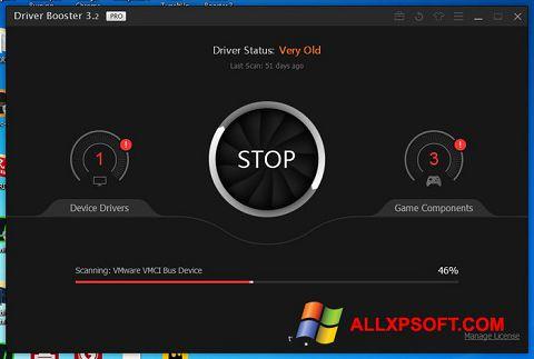 צילום מסך Driver Booster Windows XP