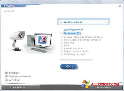 צילום מסך PrivaZer Windows XP