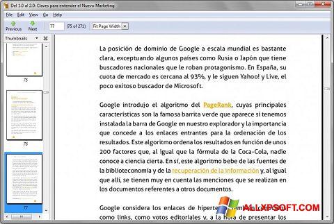 צילום מסך Evince Windows XP