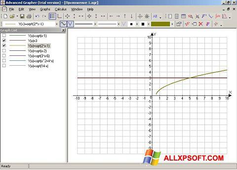 צילום מסך Advanced Grapher Windows XP
