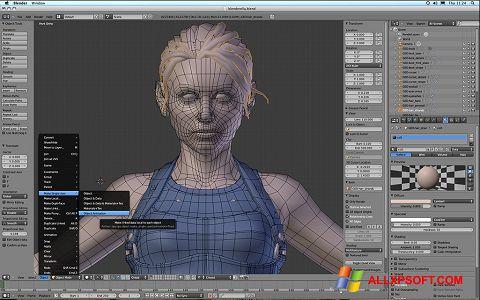 צילום מסך Blender Windows XP