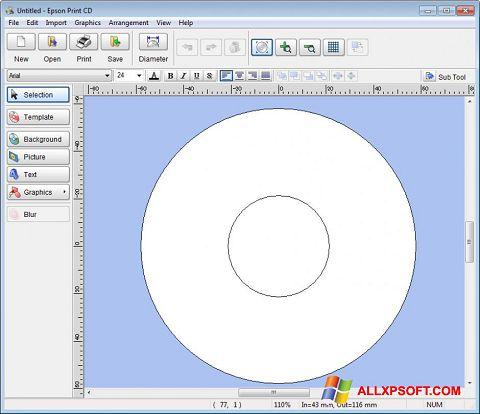 צילום מסך EPSON Print CD Windows XP
