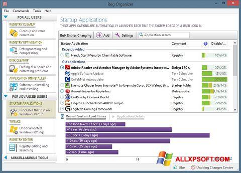 צילום מסך Reg Organizer Windows XP