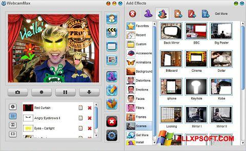 צילום מסך WebcamMax Windows XP