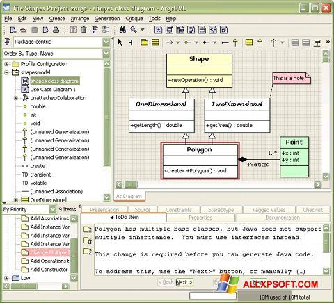 צילום מסך ArgoUML Windows XP