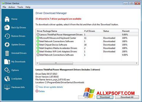צילום מסך Driver Genius Professional Windows XP