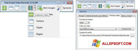 צילום מסך Free Screen Video Recorder Windows XP