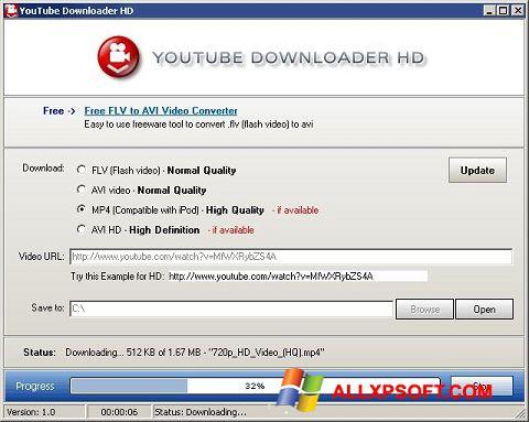 צילום מסך Youtube Downloader HD Windows XP