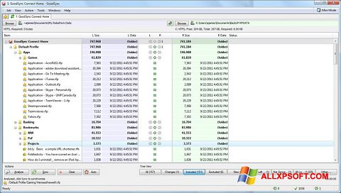 צילום מסך GoodSync Windows XP