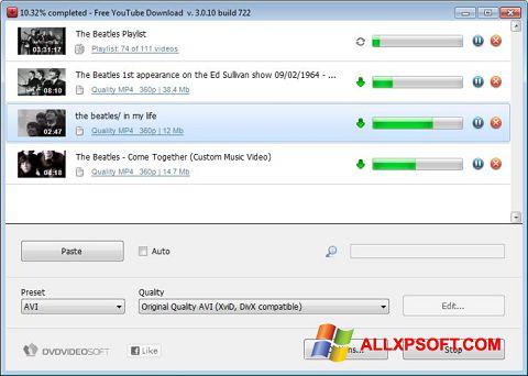 צילום מסך Free YouTube Download Windows XP