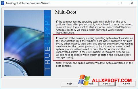 צילום מסך MultiBoot Windows XP